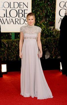 Kristen Bell | Pregnant & Fabulous!! | 2013 Golden Globes Red Carpet