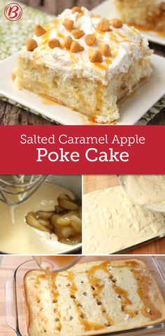 Guests will swoon over this quick-prep cake flavored with salted caramel and apple-pie filling and topped with creamy whipped topping and butterscotch chips.
