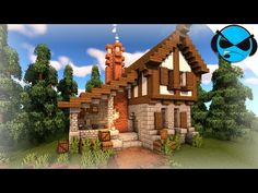 Minecraft: How To Build A Medieval Blacksmith Minecraft Build Tutorial # blacksmith #build #m in 2020 Minecraft medieval house Minecraft cottage Minecraft architecture