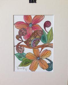 Maggie watercolor and ink original drawing