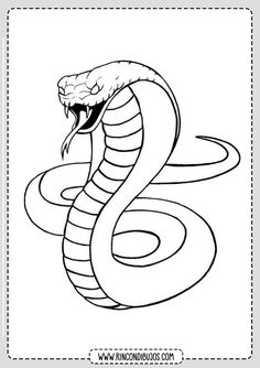 The king cobra has come to capture the imagination of beautiful reptile for all ages all around the world. Even adults love the sound of king cobra and Snake Painting, Snake Drawing, Snake Art, Snake Outline, Dark Art Drawings, Art Drawings Sketches, Easy Drawings, Animal Drawings, Pencil Drawings