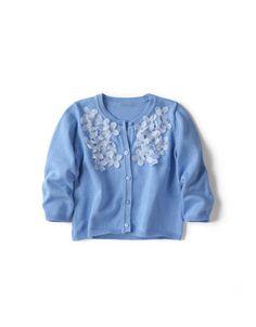 Cardigan with Floral Applique Zara $32.90