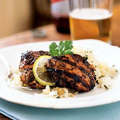 Balsamic- Mango Marinated Grilled Chicken