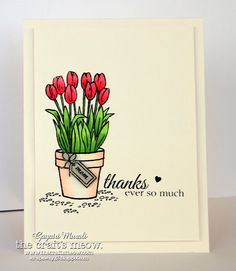 Handmade by Introducing Potted Garden and Cottage Garden! Birthday Card Drawing, Birthday Cards, Diy Birthday, Cute Cards, Diy Cards, Karten Diy, Mothers Day Cards, Kirigami, Watercolor Cards