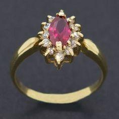 Anel de Formatura Feminino Red Jewelry, Jewellery, Golden Ring, Pandora, Rose Gold, Jewels, Gemstones, Luxury, Rings