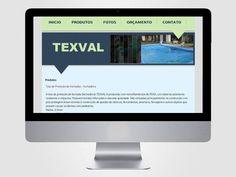 Criação e codificação do layout da página Telas Texval.