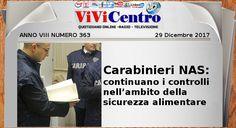 Carabinieri NAS: continuano i controlli nell'ambito della sicurezza alimentare