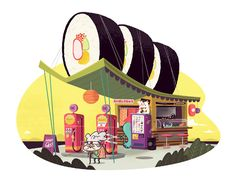 Portraits of the American Food Stand  | Illustrator: Christopher Lee