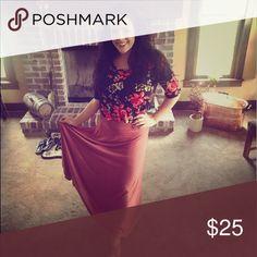 Maxi skirt Worn once! LuLaRoe Skirts Maxi