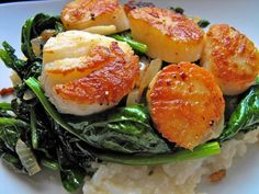 Scallops Spinach & Risotto