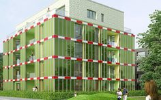 Check out this algae-powered apartment complex.