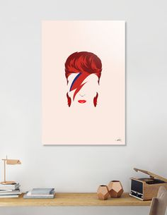 Discover «Bowie», Exclusive Edition Aluminum Print by Bruno Morphet - From $59…