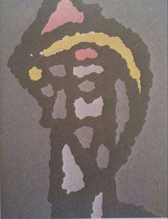 Sabri Berkel: Figür Soyutlaması. Tuval uzerine yagliboya. Ykl. 30×50 cm. Ozel koleksiyon