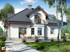 Dom w tymianku 10 (P) Home Fashion, Mansions, House Styles, Home Decor, American Houses, Decoration Home, Manor Houses, Room Decor, Villas