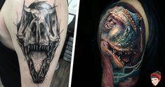 Uma seleção de tatuagens de dinossauros para acelerar os corações de todos os fãs dos grandes animais pré históricos que já habitaram a terra.