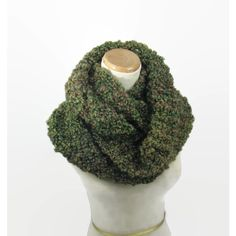 Knit Infinity Scarf, Circle Scarf, Hand Knit Scarf, Knitted Scarf,... ($46) ❤ liked on Polyvore featuring accessories, scarves, knit infinity scarf, knit shawl, infinity scarves, loop scarves and cowl scarves