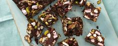 Try this gluten-free Rocky road. Celebrate Coeliac Awareness week with this gluten-free rocky road Asda Recipes, Sweet Recipes, Recipies, Cooking Recipes, Fridge Cake, Golden Syrup, Rocky Road, Cake Tins, Canapes