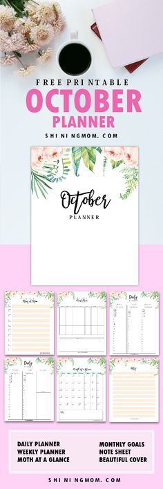 Your may now print your FREE October planner printables! They're out already! #planner #printables #freeplanner #October #OctoberPlanner