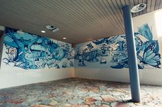 Animal Forrest Swimmingpool by Wall Dizzy, via Behance