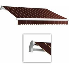 Maui-LX Manual Retractable Awning, 12 ft.W x 10 ft.Proj, Red