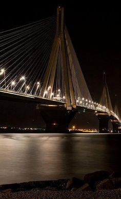 Rio - Antirio Bridge, Achaea (Peloponnese), Greece | Flickr - Photo by Vasilis Karamouzos