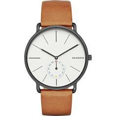 Skagen SKW6216 Mens Hagen Tan Leather Strap Watch