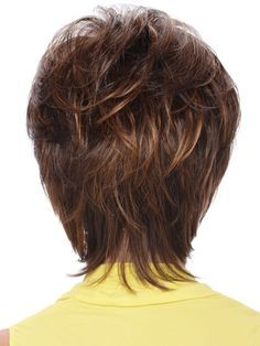 Short Sassy Shag With Soft Layeres Human Hair Wig, Short Bob Wigs Human Hair | D4 wwa301