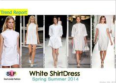 White Shirtdress #FashionTrend for Spring Summer 2014 #FashionTrends2014 #spring2014 #trends2014 #shirtdress #white #dress