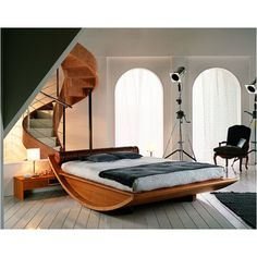 Gorgeous, modern wooden bed