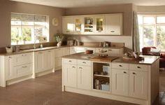 Arredare in bianco e beige - Cucina bicolor