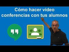 Minitutorial de vídeo conferencias para profes con Hangouts - YouTube Y Words, Design Social, Microsoft Excel, Google Classroom, Teaching Tips, Science And Technology, Google Drive, Kindergarten, Language