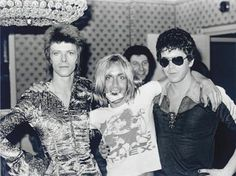 David Bowie, Iggy Pop, and Lou Reed. Jesus took this picture.
