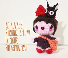 Kiki from Kiki's Delivery Service free amigurumi pattern. | The Sun and the Turtle - Amigurumi patterns and beanies