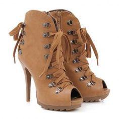 New Style Fashion Stiletto Heel Tie Up Design Peep Toe Spring Sandals For Women