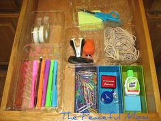Cheap drawer organization