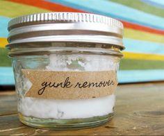 Residuo de adesivos - bicarbonato + óleo de coco.