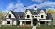 Modern Farmhouse With Dramatic Views To The Rear - 290085IY | Architectural Designs - House Plans