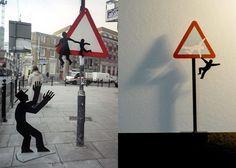 Street art installations of Brad Downey