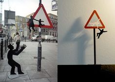 Street art installations of Brad Downey