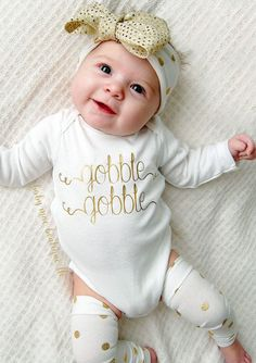 Baby girl Thanksgiving Outfit, thanksgiving bodysuit, leg warmers & bow…