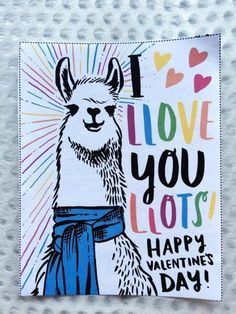 "Nothing says ""I love you"" like a llama!"