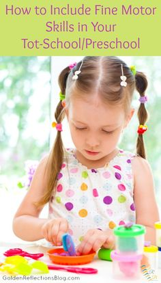 Not sure how to include fine motor skills with your toddler or preschooler? Come read these helpful tips! | www.GoldenReflectionsBlog.com