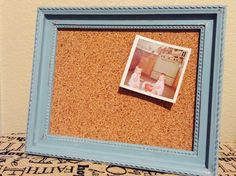 Hand painted framed cork board by IlyCustomCreations on Etsy