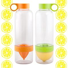 Citrus infusing water bottles!