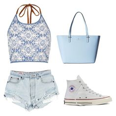 A beauty collage from July 2016 featuring leather hand bags, halter crop tops and distressed shorts. Browse and shop related looks. Halter Crop Top, Distressed Shorts, River Island, Like4like, Kate Spade, Converse, Crop Tops, Polyvore, Leather