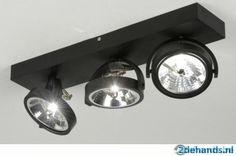 design spots aluminium 3 lichts opbouwspots zwart of wit