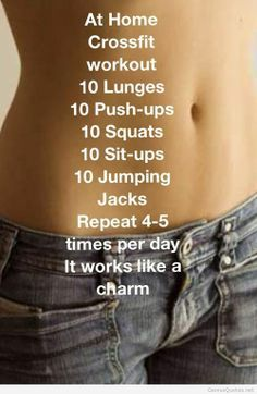 Simple workout for home