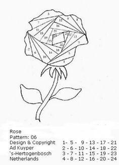 Rose Iris Folding Pattern
