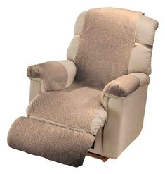 Miles Kimball One Size Fits All Camel Sherpa Recliner Cover by OakRidge Comforts Couch Furniture, Leather Furniture, Cheap Furniture, Furniture Design, Leather Reclining Sofa, Leather Recliner, Leather Chesterfield, Chesterfield Chair, Natural Leather Sofas
