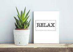 Relax print Scandinavian print Home Wall decor by DesignByMaya